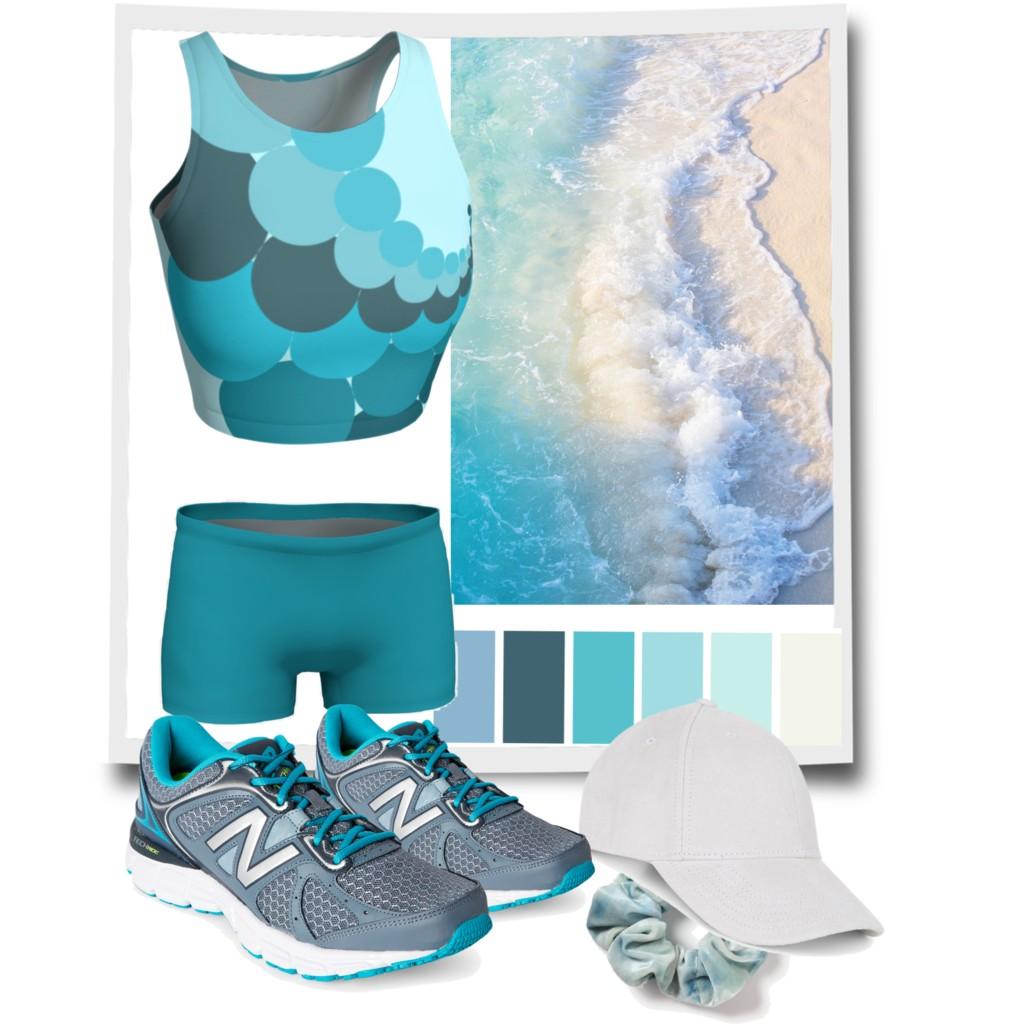 Ocean Blue Running Outfit