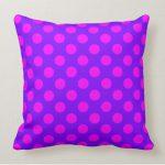Pink on Purple polka Dots Living Room Decor