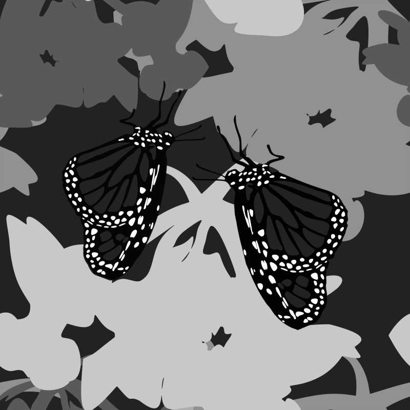 Monarch Butterfly Repeat Pattern Design
