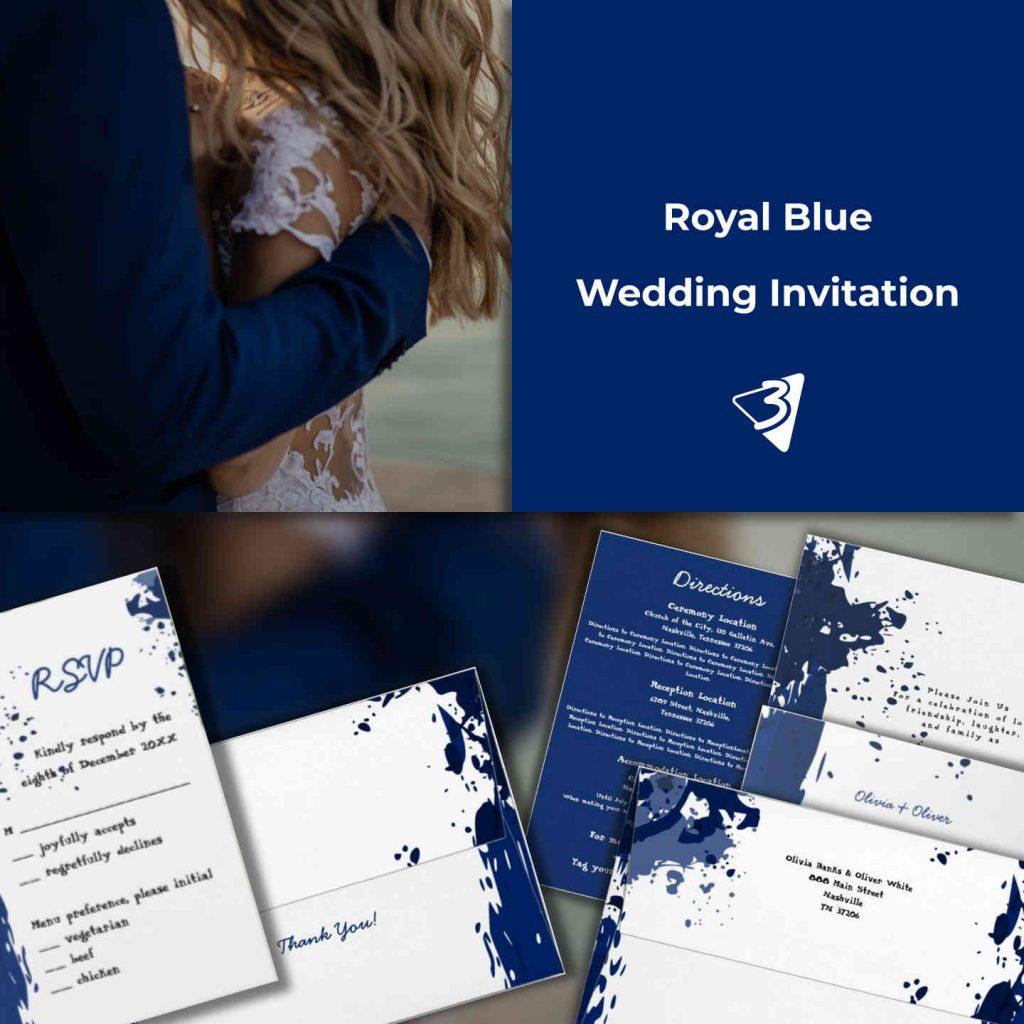 My Modern Wedding Invitation in Blue