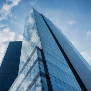 Glass-clad Buildings That Mirror The Changing Blues of The Sky