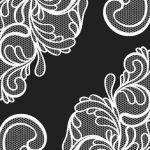 Vintage Leafy Lace Wedding Invitation Design