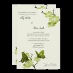 green butterfly wedding invitation