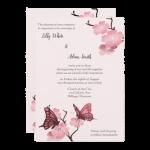 Pink Butterfly Wedding Invitation