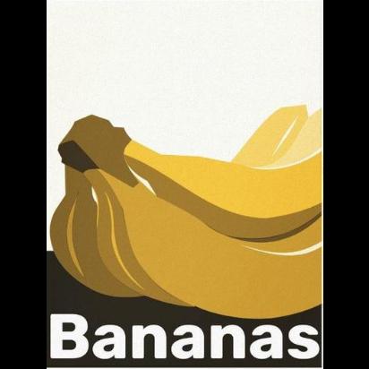 Yellow and Black Banana Print Kitchen Wall Decor