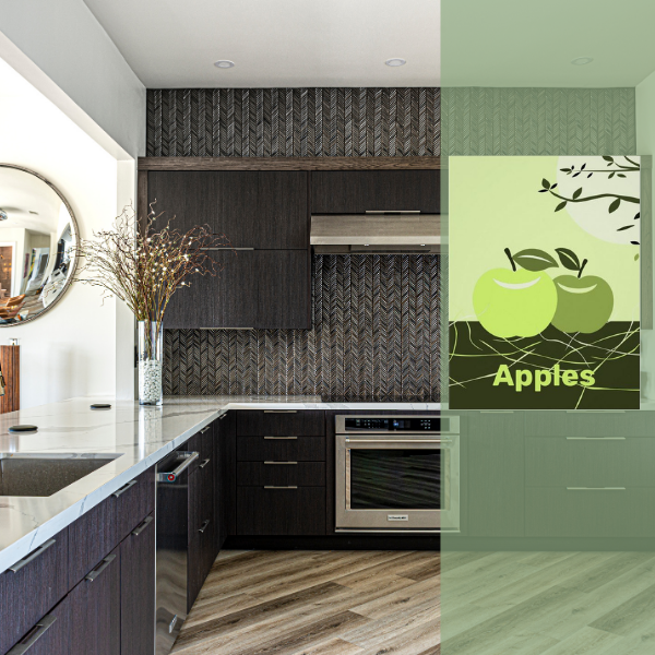 Fall Decor on Canvas Green Apples