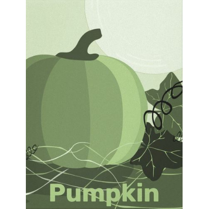 Green pumpkin canvas print