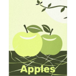 Modern Green Apple Decor For Kitchen