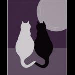 purple fall cat decor
