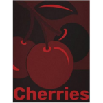 Monochrome Red Cherry Fruit Wall Art For Kitchen Wall Decor