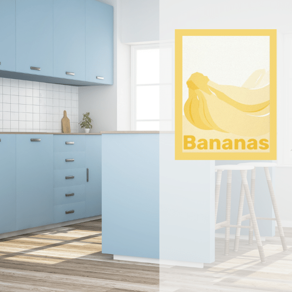 Yellow Wall Decor For Kitchen In Light Blue