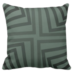 pillow in shades of grey with an angular pattern