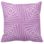 20 inch by 20 inch purple cushion with spiral box pattern