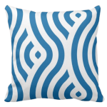 Blue and white waves pattern