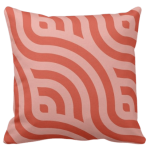 throw pillow with red wave pattern