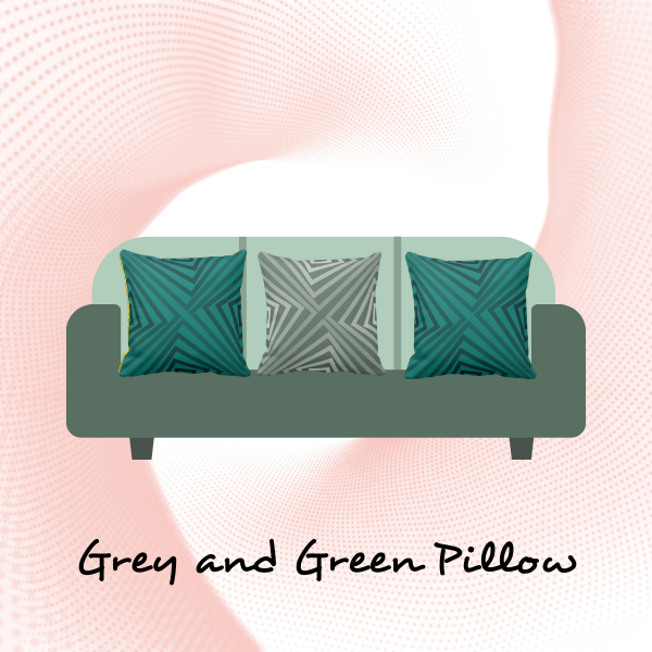 Grey and green cushions