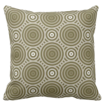 in shades of brown throw pillow with a sophisticated circular pattern