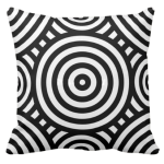 Black and white tribal style pattern with a nested circular pattern