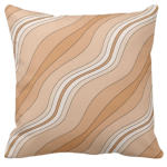 Wavy Stripes Decorating A Brown Pillow Giving a Stone Sediment Impression