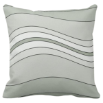 Grey Wavy Stripes Pattern Decorating A Pillow Giving a Stone Sediment Impression