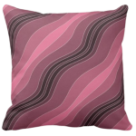 Pink Wavy Stripes Pattern Decorating A Pillow Giving a Stone Sediment Impression