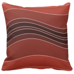 Red Wavy Stripes Pattern Decorating A Pillow Giving a Stone Sediment Impression