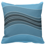 Turquoise Wavy Stripes Pattern Decorating A Pillow Giving a Stone Sediment Impression