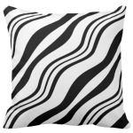 Black And White Wavy Stripes Pattern Decorating A Pillow