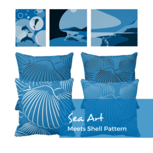 Sea Art Meets Pillows With Shell Pattern
