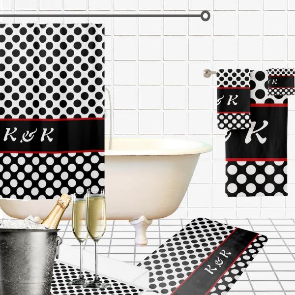 Classic Black And White Regular Circles Pattern, Bathroom Decorating Ideas