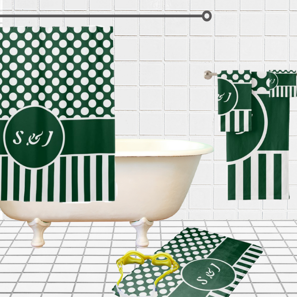 Green And White Polka Dot Pattern, Bathroom Decorating Ideas