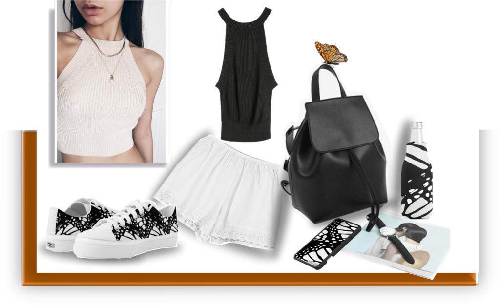 Black,white&neutrals minimal look