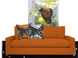 Abstract Monarch Buterfly Design